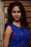 Pallavi Dora Actress in Sleeveless Blue Short dress at Prema Entha Madhuram Priyuraalu Antha Katinam teaser launch 014.jpg