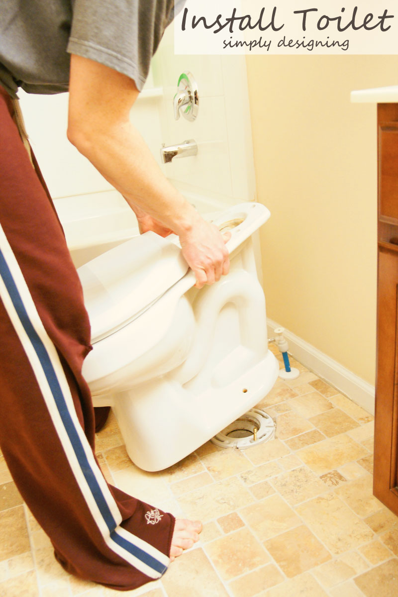Re-Install a Toilet | a complete tutorial for how to demo, prep, install concrete backer board and install tile | #diy #bathroom #tile #thetileshop @thetileshop