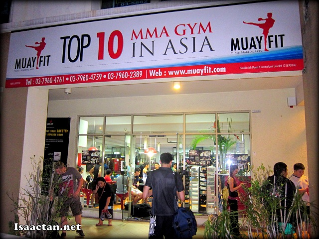 Our meet the fighters session was held here at Muayfit MMA Gym
