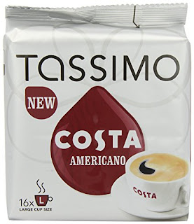 Great taste coffee, TASSIMO Costa Americano 16 T DISCs (Pack of 5) 20 poundsterling