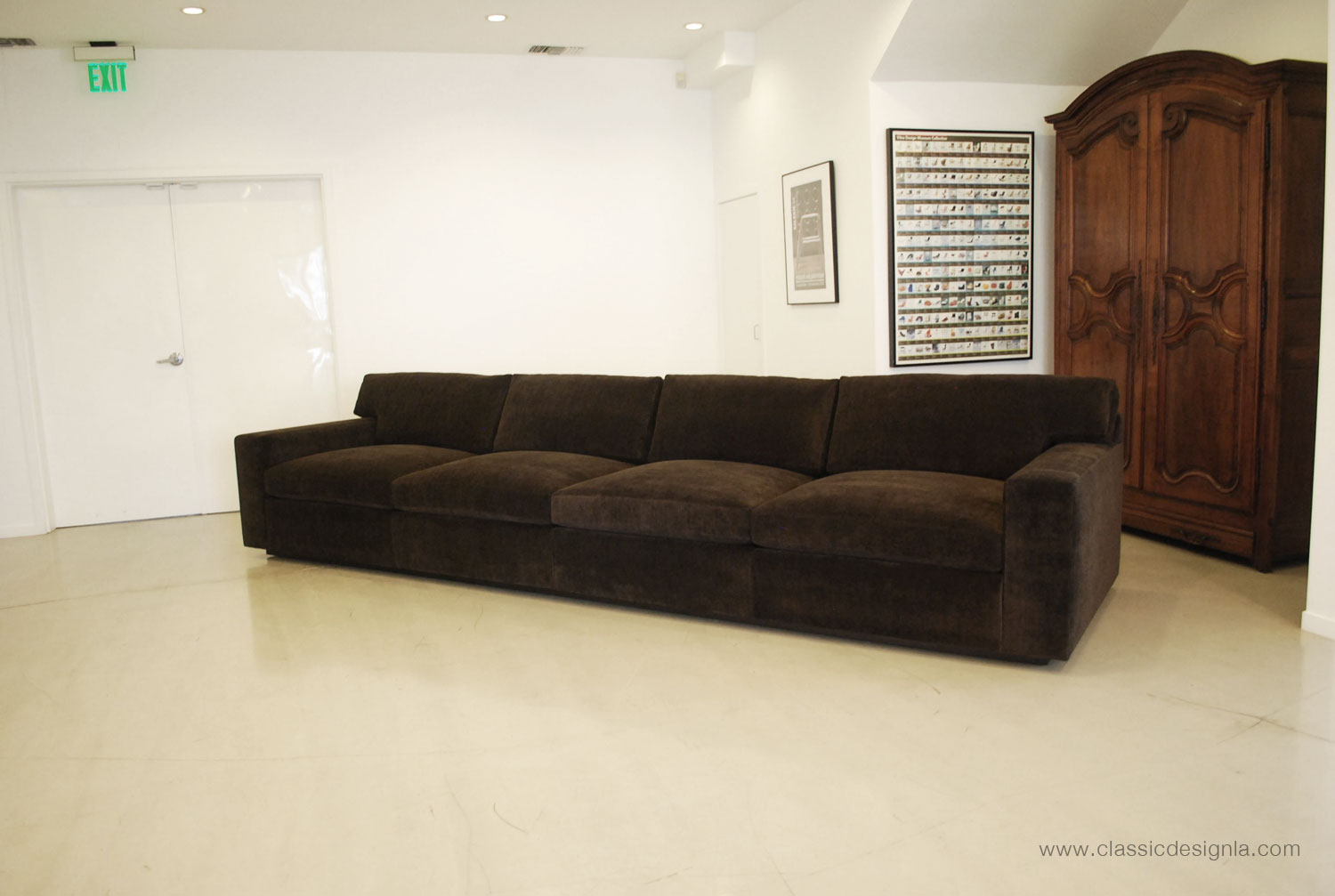 extra long sofa bed flexsteel 4 piece sectional with right arm facing chaise in brown classic design