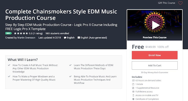 Complete Chainsmokers Style EDM Music Production Course