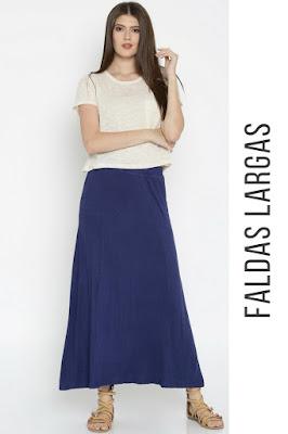 faldas largas para mujer