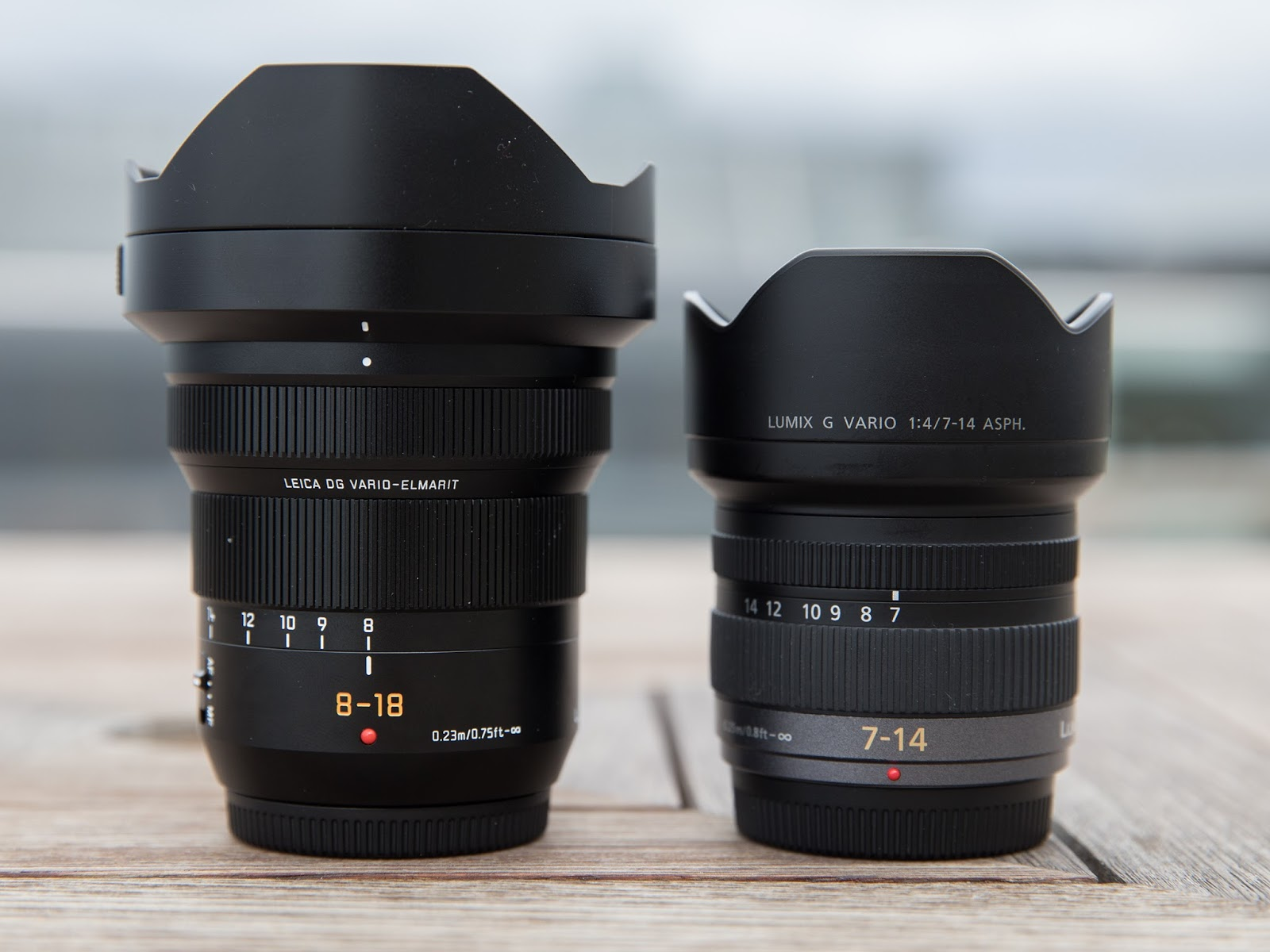 Panasonic Leica DG Vario-Elmarit 8-18mm f/2.8-4 Asph. и Panasonic Lumix 7-14mm f/4 Asph.