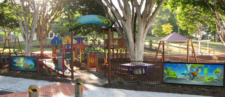 Awesome shaded playground for Brisbane Kids