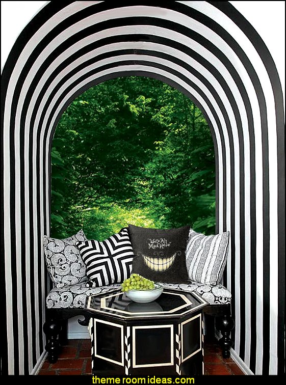 down the rabbit hole - Alice in Wonderland bedroom decor - Alice in wonderland themed rooms