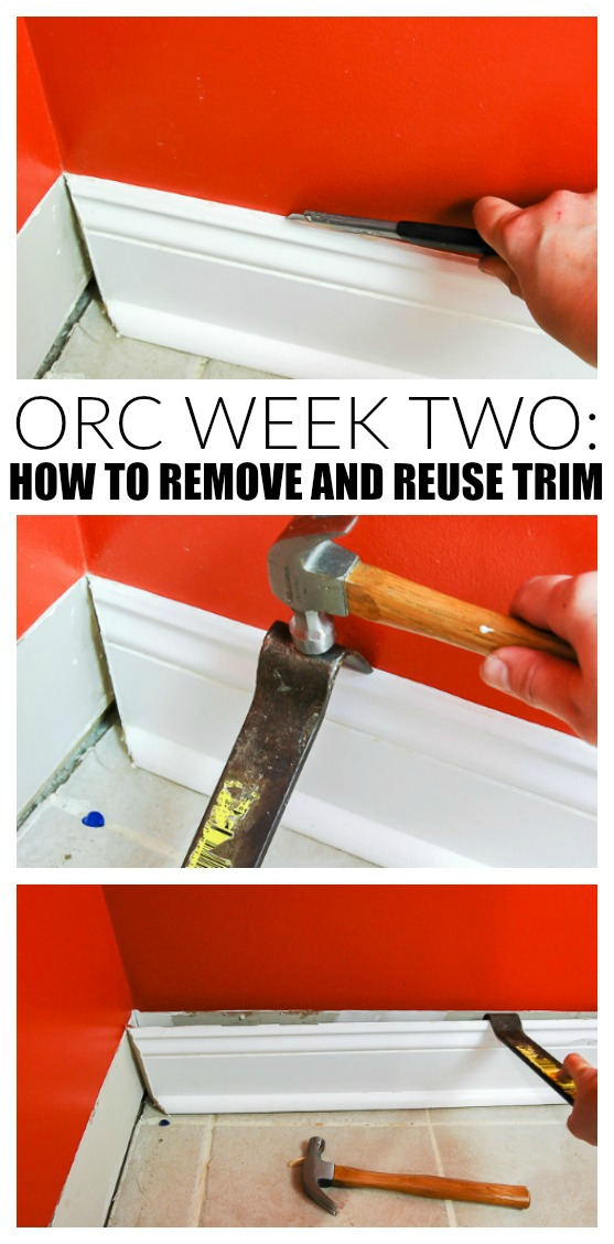 One Room Challenge Week Two: How to Remove and Reuse Trim