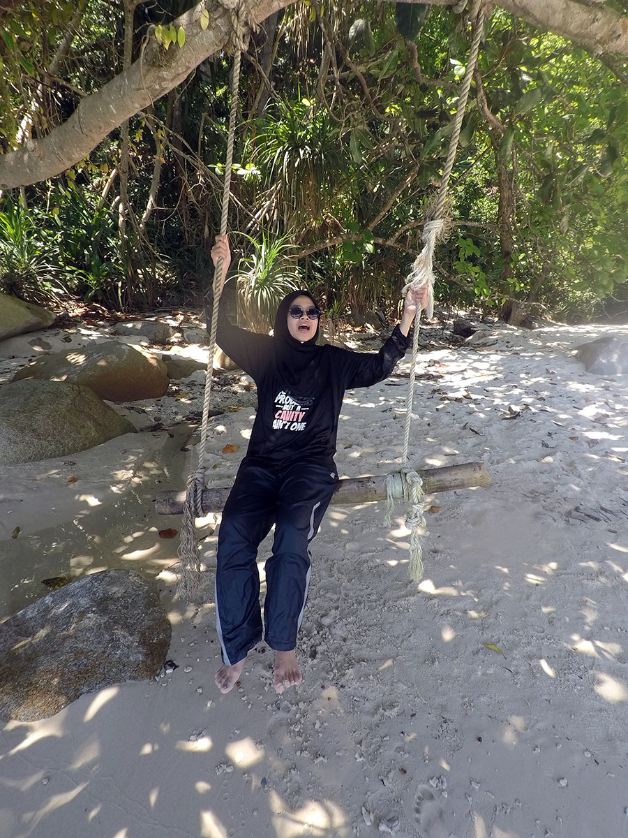 Bamboo swing at Perhentian Island