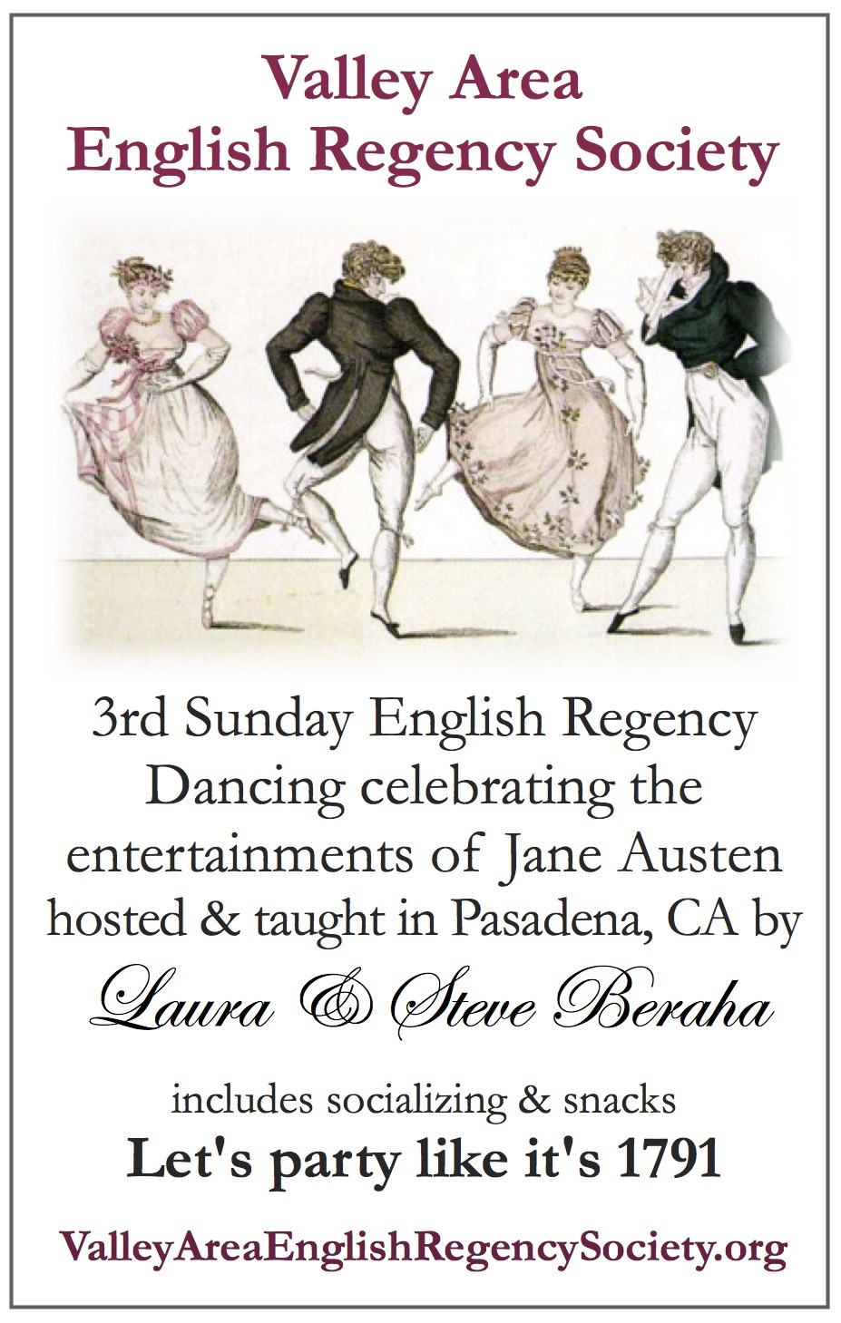 VAERS Regency Dance Instruction