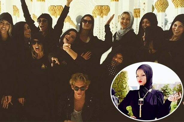 Kendall Jenner, Selena Gomez, Gigi Hadid and others pose at Sheikh Zayad Grand Mosque in Dubai