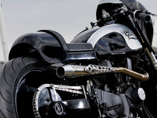 glory buell xb9 drag and cafe by hide motorcycle back right angle