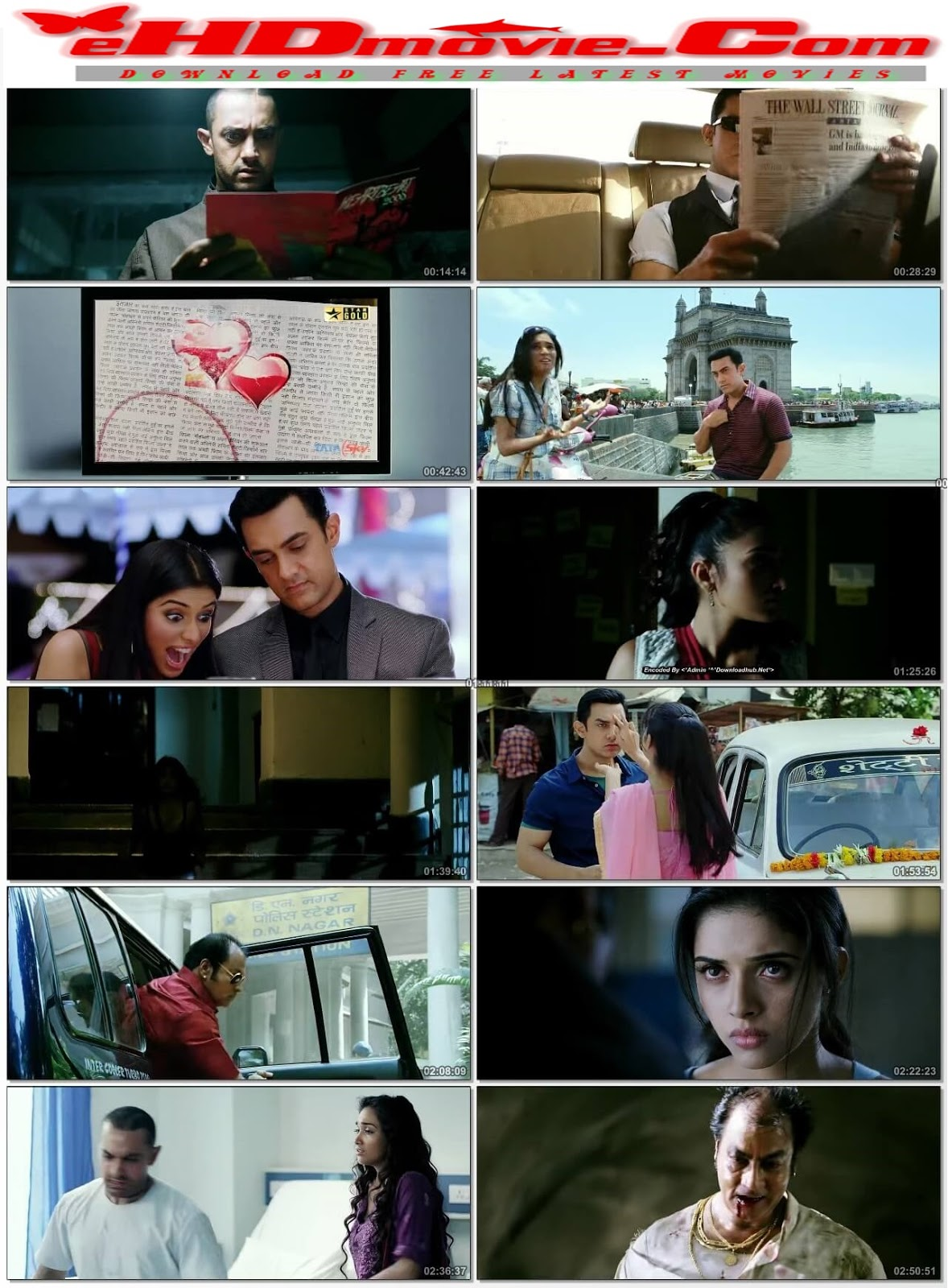 Ghajini 2008 Hindi 720p BRRip 550MB HEVC ESubs