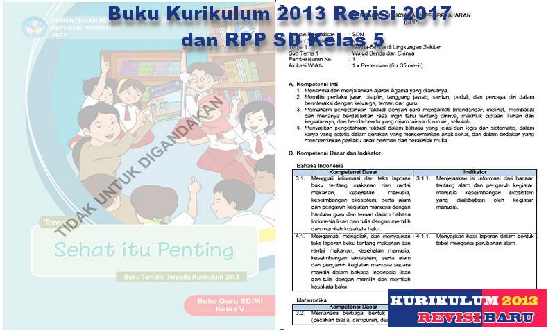 Buku Kurikulum 2013 Revisi 2017 dan RPP SD Kelas 5