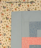 pink, blue and Pooh fabrics