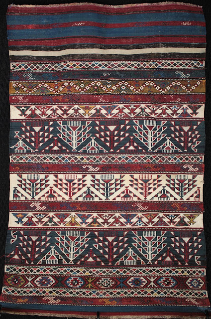 A rare camel kilim from Khizi north of Shirvan in Azerbaijan