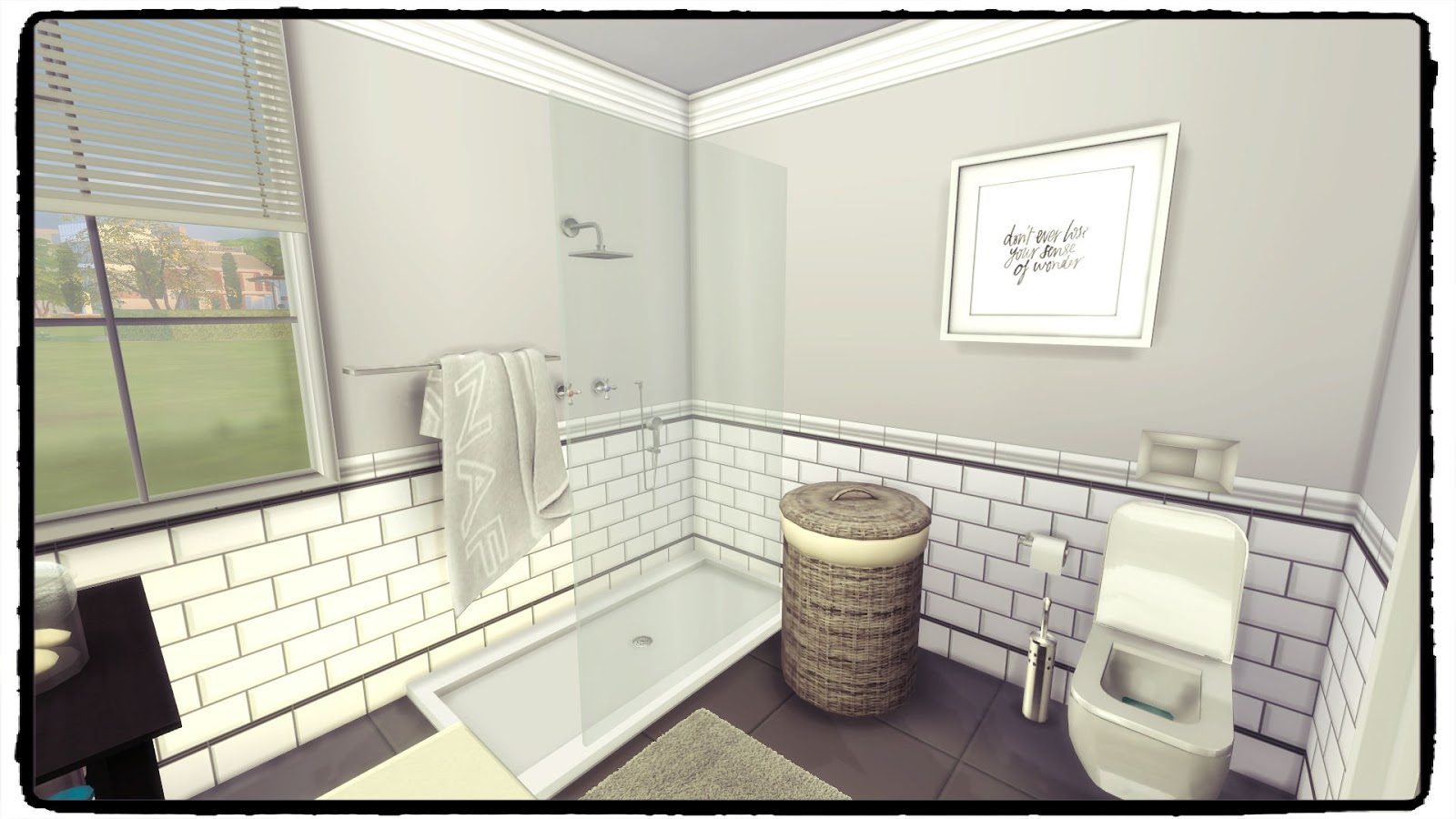 You might need a row of smaller tiles to fill the space. Sims 4 - Hemnes Bathroom - Dinha