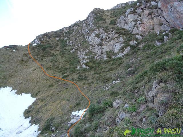 Saliendo a la cresta del Praera