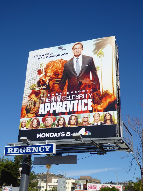 Arnold Schwarzenegger New Celebrity Apprentice billboard