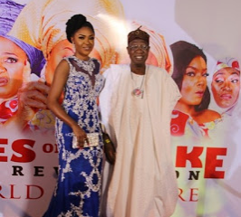 Tony Elumelu, Lai Mohammed, Mo Abudu, Toyin Abraham, Biola Alabi, Ufuoma and others attend Omoni Oboli?s premiere of Wives on Strike Revolution