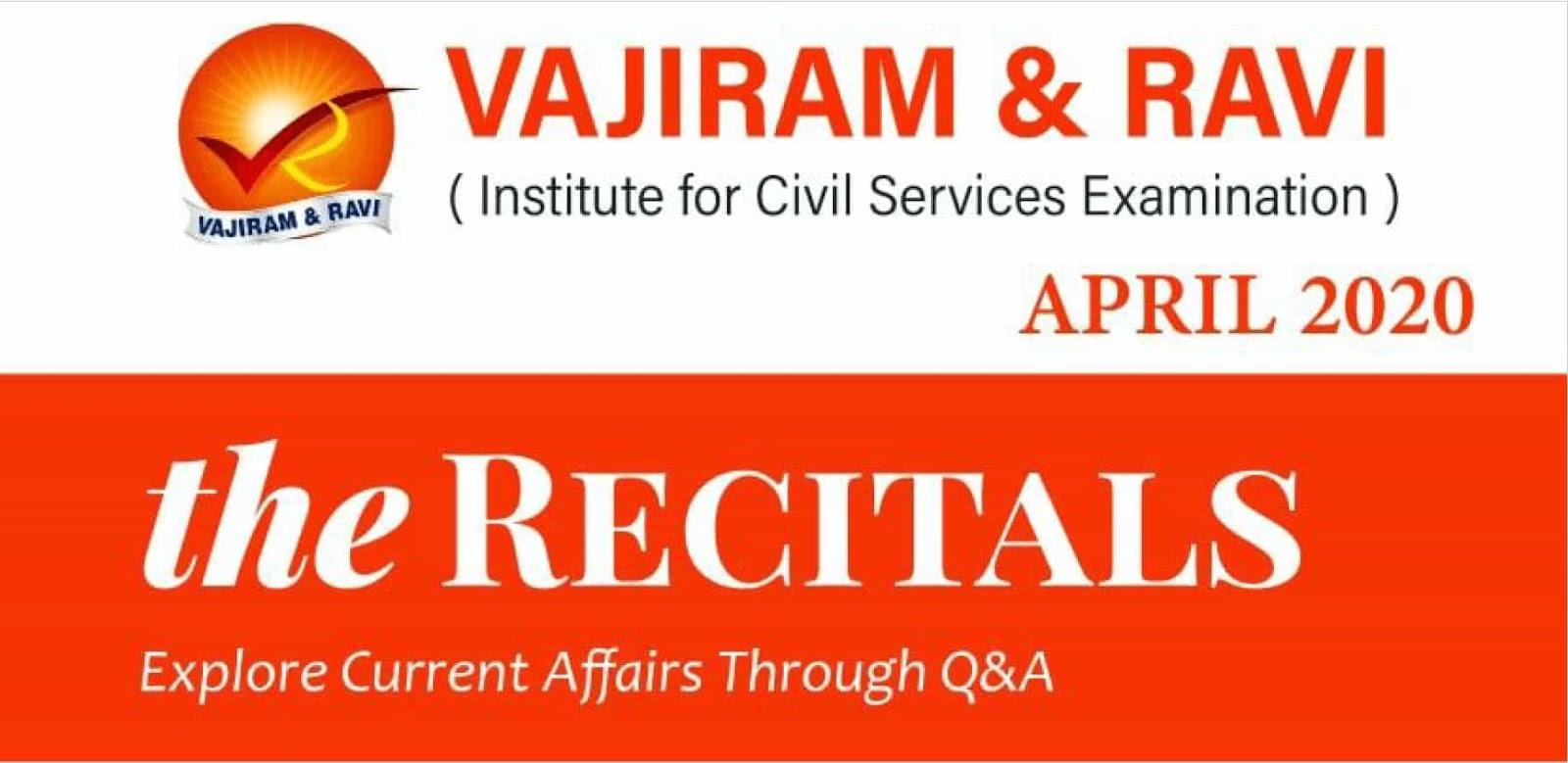Vajiram Current Affairs April 2020
