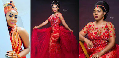 Mercy Aigbe's Designer Speaks About The Birthday Gown