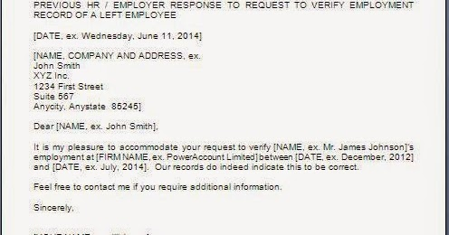 Employee Reference Check Reply Letter