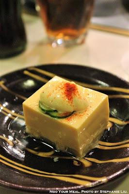 Tofu and Asparagus at Shabusen in Tokyo, Japan