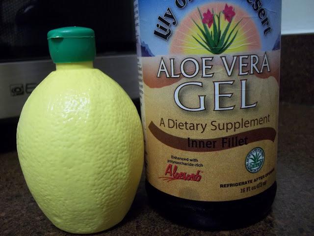 aloe vera, lemon juice, henna