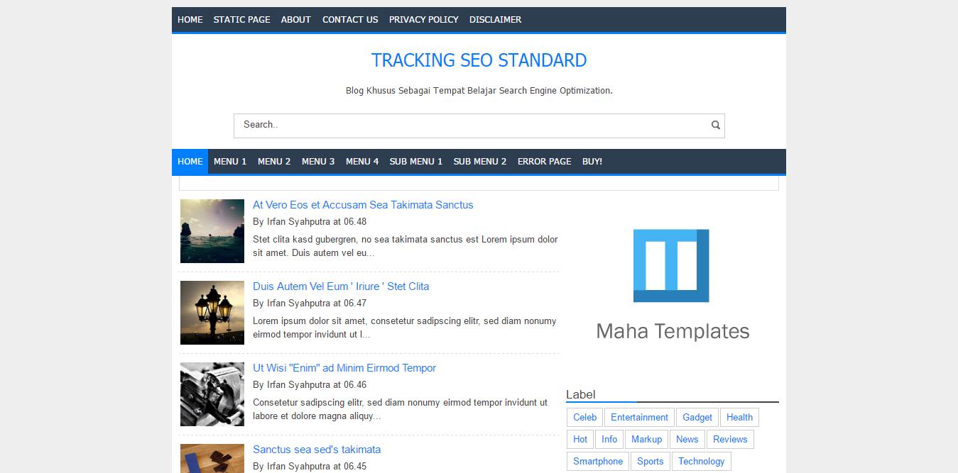 Tracking SEO Standard