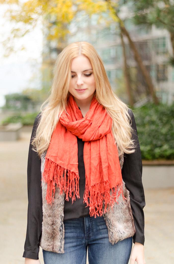 faux fur, street style, street fashion, faux fur vest, winter style, fall style