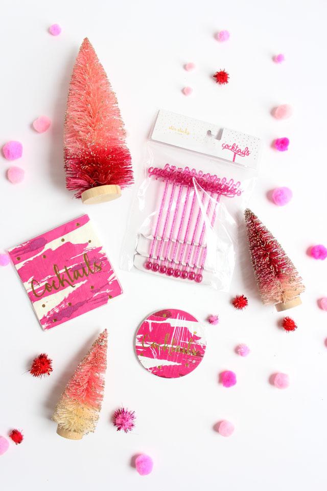 All my favorite things - pom-poms, desk accessories, and holiday decor!