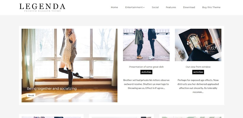 Legenda Free Blogger Template