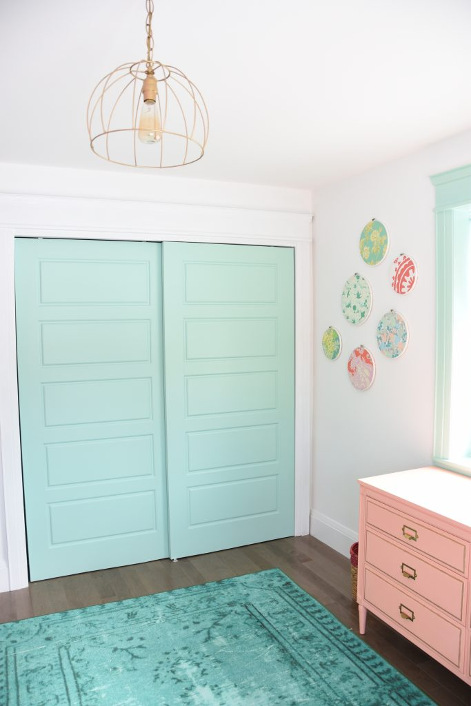 painted door kids room accent | The Sweetest Digs