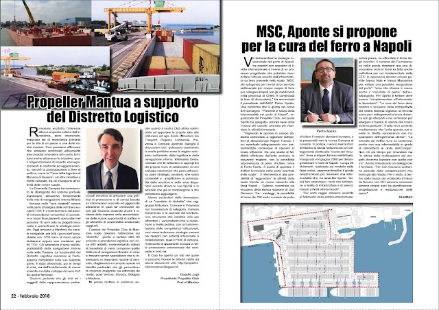 feb 2018 pag 22 - Propeller Mantua a supporto  del Distretto Logistico