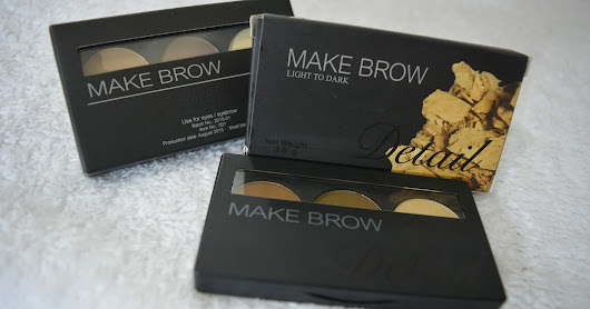 Detail Makeover MakeBrow Light to Dark Palette REVIEW