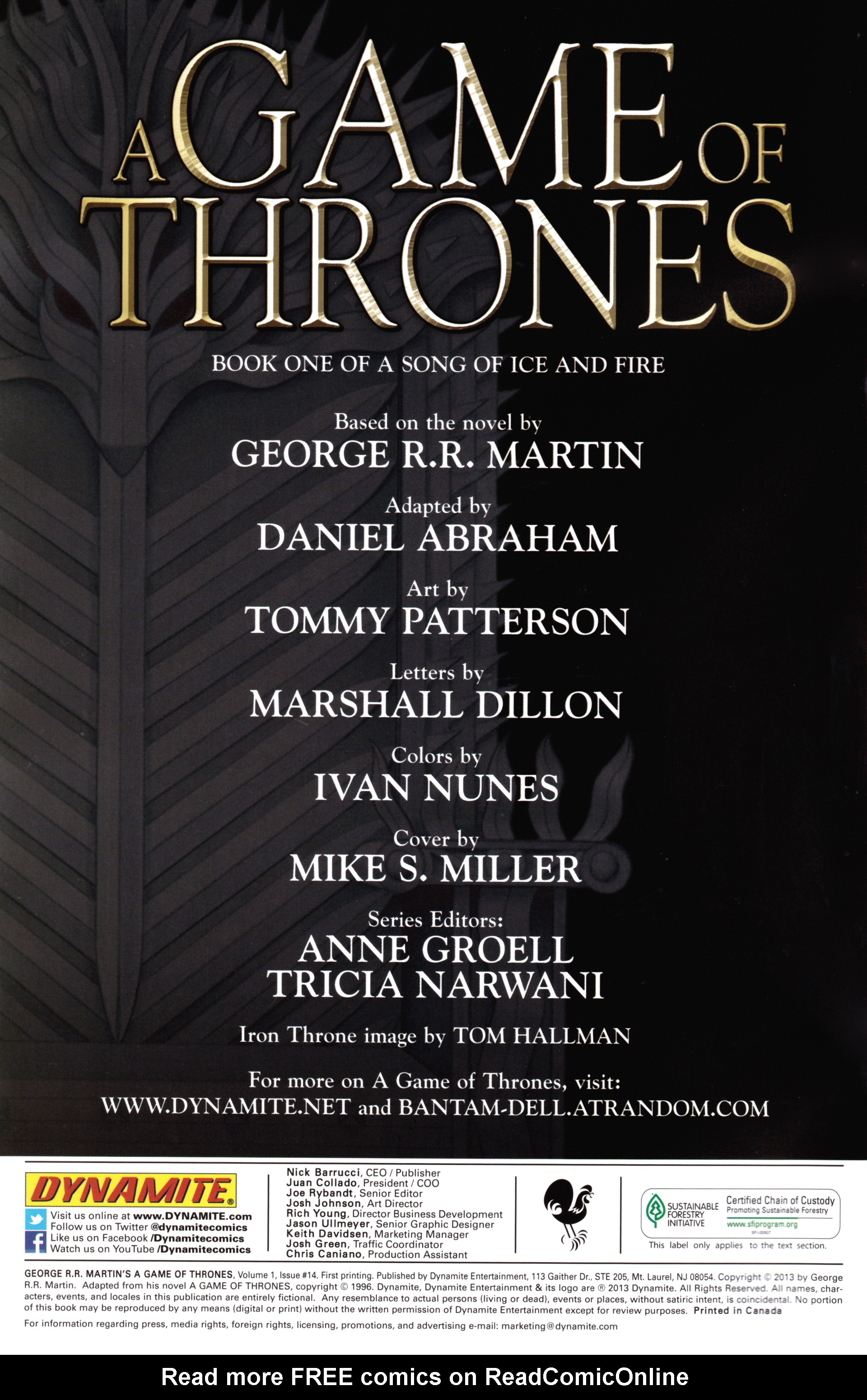 Read online A Game Of Thrones comic -  Issue #14 - 2