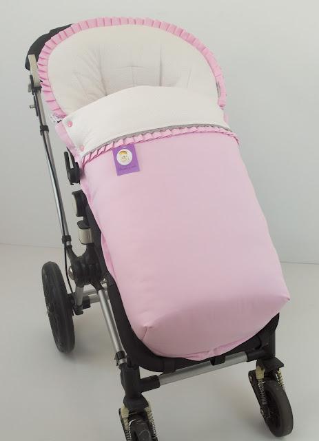 funda silla bugaboo rosa topitos gris