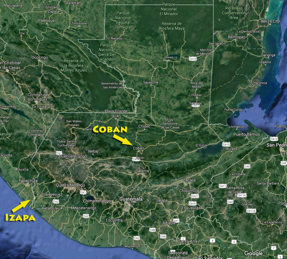 To get from Izapa to Coban we