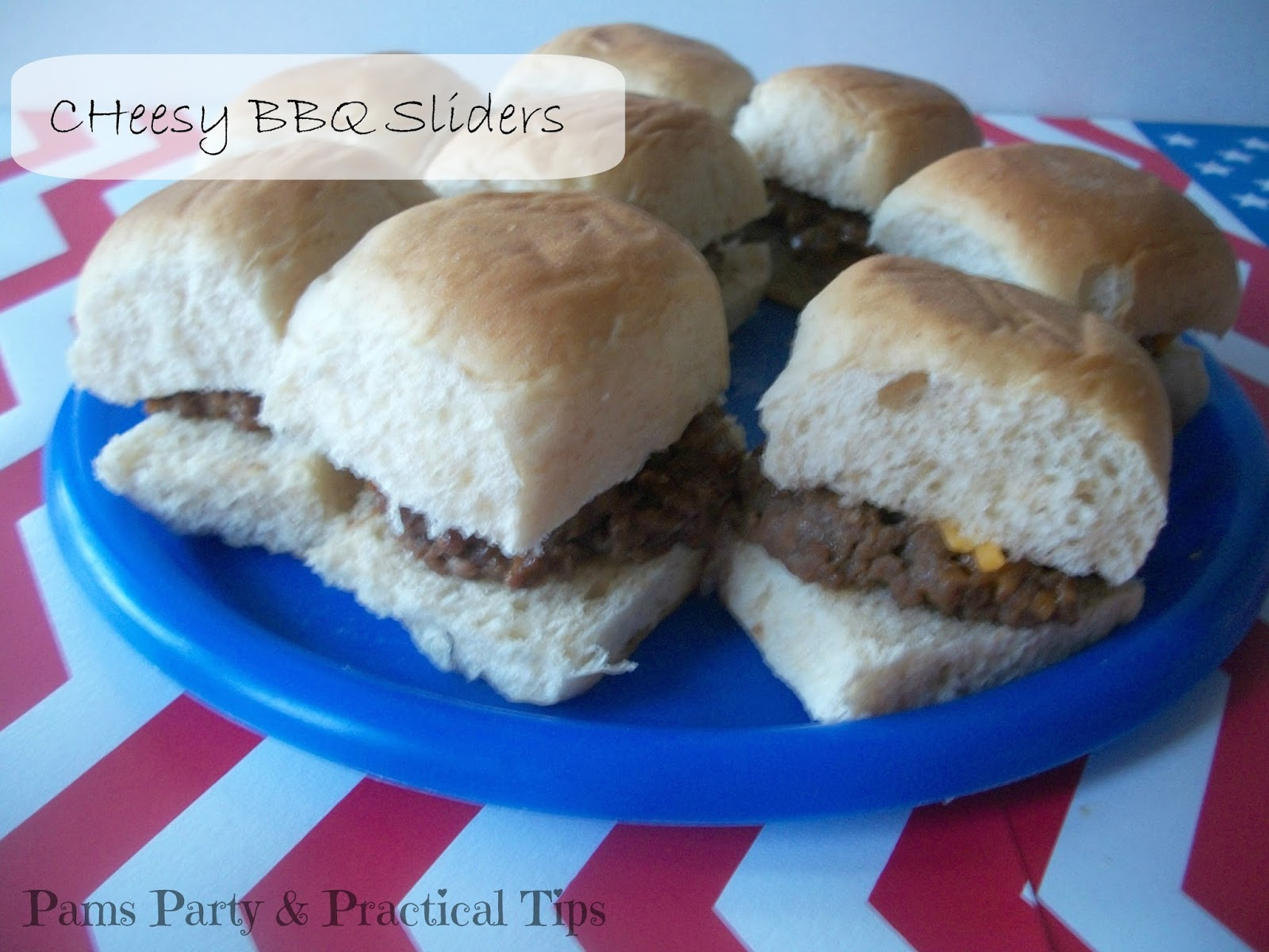 Cheesy  BBQ Sliders, Mini Burgers