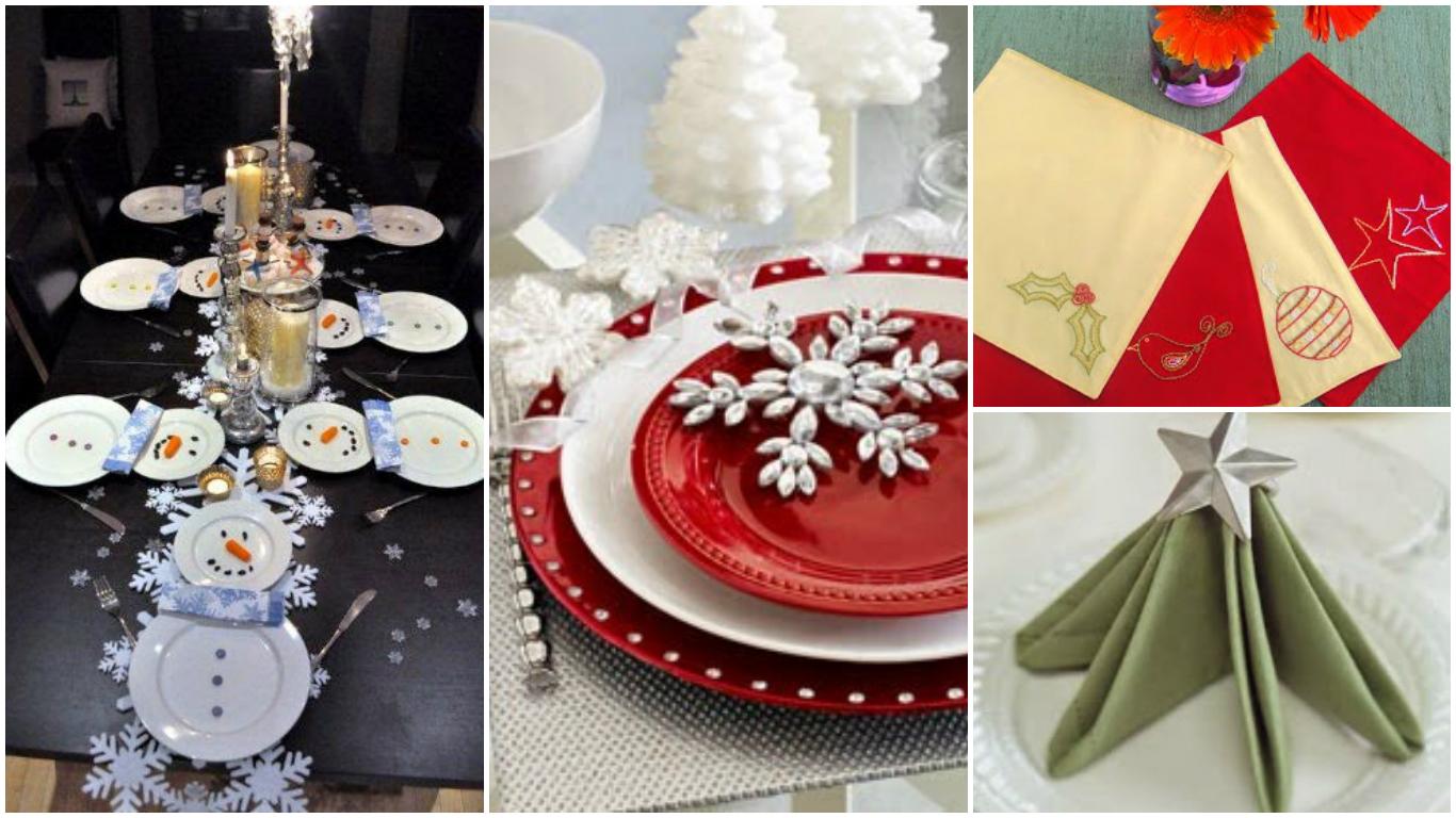 Ideas para poner una mesa navide a - Ideas para hacer adornos navidenos ...