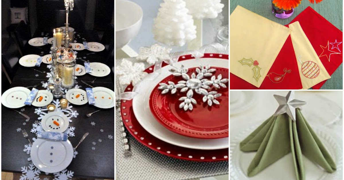 Ideas para poner una mesa navide a for Ideas mesa navidad