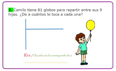 Resultado de imagen para problemas para niños de divisiones sencillas