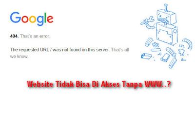 Cara Mengatasi Alamat Website Yang Tidak bisa di Akses Tanpa www