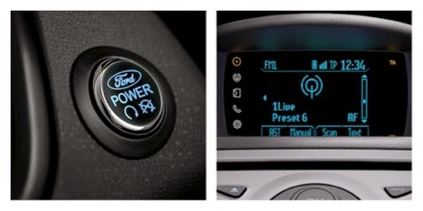 Push Start Button of the New Ford Fiesta 1.0L