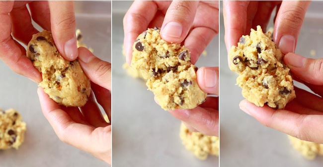 how to shape cookie dough to make good looking cookies with texture