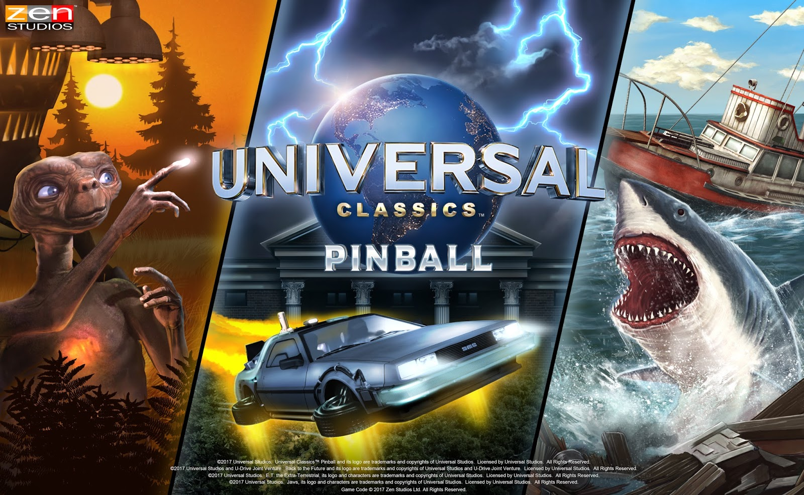 Review Universal Studios Pinball Tables Featuring E T Jaws And Back To The Future From Zen Studios