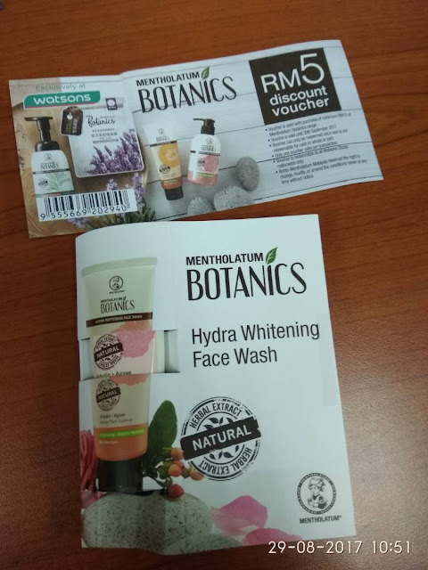 Sample Hydra Whitening Face Wash