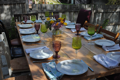 Alfresco dining, Easter dining outside, Spring tablescape, Eating outdoors