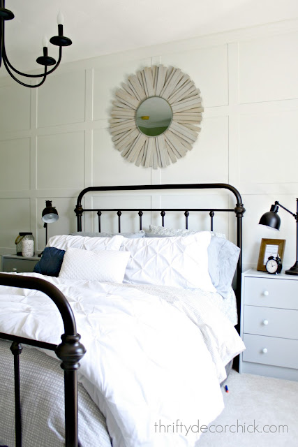 Farmhouse metal bed