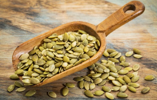 High level of magnesium in pumpkin seeds gives it a stress busting potential. Inadequate intake of foods that are rich in magnesium places one at higher risk of stress symptoms such as headache, anxiety, tension, fatigue, insomnia, nervousness and high blood pressure. A quarter cup of pumpkin seeds gives half a day magnesium requirement.